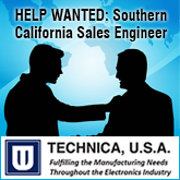 Position: Southern California Territory Sales Engineer