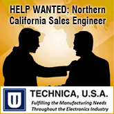 Position: Northern California Territory Sales Engineer